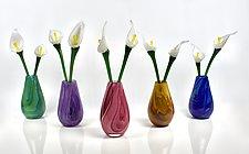 Forever Flower Bouquet by Peter Stucky and Dana Rottler (Art Glass Sculpture)