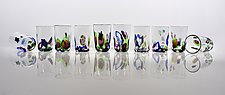 Cool Blue Party Cup by Peter Stucky and Dana Rottler (Art Glass Drinkware)