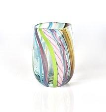 Beachy Rainbow Glasses by Peter Stucky and Dana Rottler (Art Glass Drinkware)