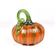 Classic Pumpkins by Peter Stucky and Dana Rottler (Art Glass Sculpture)