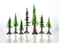 Oh Tall Tree by Peter Stucky and Dana Rottler (Art Glass Sculpture)