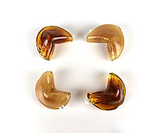 Set of Four Fortune Cookies by Peter Stucky and Dana Rottler (Art Glass Sculpture)