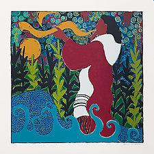 She Blew the Shofar by Lynne Feldman (Serigraph Print)