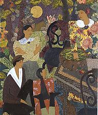 Early Evening by Lynne Feldman (Acrylic & Cotton Painting)