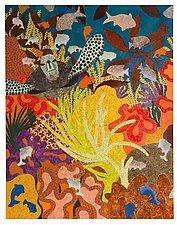 Coral Reef by Lynne Feldman (Mixed-Media Painting)