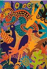 Animals at the Water by Lynne Feldman (Serigraph Print)