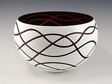 Continuum Bowl No.16 by Nick Leonoff (Art Glass Vessel)