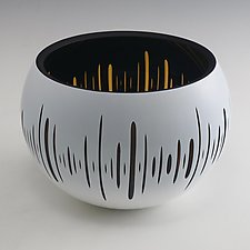 Pulse Bowl by Nick Leonoff (Art Glass Vessel)