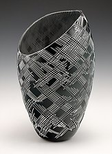 Crosshatch Vessel by Nick Leonoff (Art Glass Vessel)