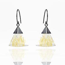 Small Resin Triangle Dangle Earrings by Zhenwei  Chu (Gold, Silver & Resin Earrings)