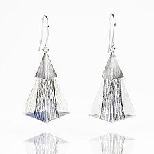 Triangle Resin Dangle Earrings by Zhenwei  Chu (Silver & Resin Earrings)