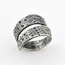 Sea Urchin Wrap Ring by April Ottey (Silver Ring)
