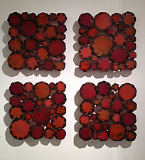 Ruby Squares by Susan Madacsi (Metal Wall Sculpture)