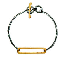 Rectangle Layer Bracelet by Jodi Brownstein (Gold & Silver Bracelet)