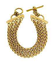 Vermeil Quad Chain Bracelet by Jodi Brownstein (Gold Bracelets)