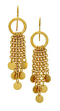 Dana Earrings with Disks by Jodi Brownstein (Gold & Silver Earrings)