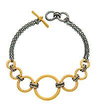 Black and Gold Gradient Bracelet by Jodi Brownstein (Gold & Silver Bracelet)