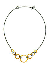 Black and Gold Gradient Necklace by Jodi Brownstein (Gold & Silver Necklace)