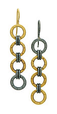 Chain Link Earrings by Jodi Brownstein (Gold & Silver Earrings)
