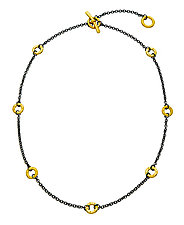 Black and Gold Barb Chain Necklace by Jodi Brownstein (Gold & Silver Necklace)