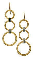 Black and Gold Gradient Earrings by Jodi Brownstein (Gold & Silver Earrings)