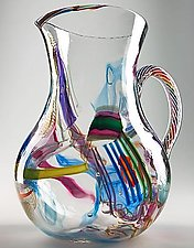 Cane-Fetti Pitcher by Michael Richardson, Justin Tarducci, and Tim Underwood (Art Glass Pitcher)