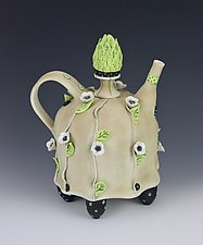 Late Bloomer by Laura Peery (Ceramic Teapot)