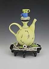 Tea for Two II by Laura Peery (Ceramic Teapot)