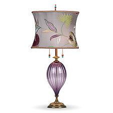 Ezra by Susan Kinzig and Caryn Kinzig (Mixed-Media Table Lamp)