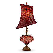 Brianna by Susan Kinzig and Caryn Kinzig (Mixed-Media Table Lamp)