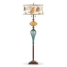 Micah by Susan Kinzig and Caryn Kinzig (Mixed-Media Floor Lamp)
