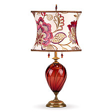 Scarlet by Susan Kinzig and Caryn Kinzig (Mixed-Media Table Lamp)