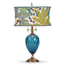 Jasmine by Susan Kinzig and Caryn Kinzig (Mixed-Media Table Lamp)