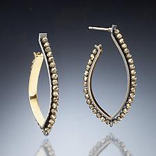 Gold Inside Hoop Earrings by Susan Kinzig (Gold, Silver & Stone Earrings)