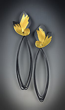 Peony Earrings by Judith Neugebauer (Gold & Silver Earrings)