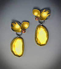 Golden Fruit Earrings by Judith Neugebauer (Gold, Silver & Stone Earrings)