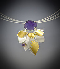 Lilac Necklace by Judith Neugebauer (Gold, Silver & Stone Necklace)