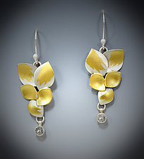 Garden Sapphire Earrings by Judith Neugebauer (Gold, Silver & Stone Earrings)