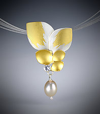 Garden Sapphire Necklace by Judith Neugebauer (Gold, Silver & Stone Necklace)