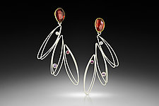 Flirty Dancing Earrings  by Judith Neugebauer (Silver & Stone Earrings)