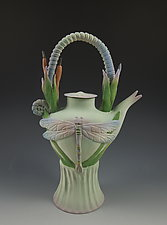 Dragonfly Teapot by Nancy Y. Adams (Ceramic Teapot)