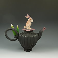 Jack Rabbit Tea by Nancy Y. Adams (Ceramic Teapot)