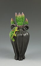 Woodland Frog Perfume by Nancy Y. Adams (Ceramic Perfume Bottle)