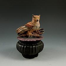 Owl Box by Nancy Y. Adams (Ceramic Box)