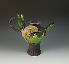 Horny Toad Tea II by Nancy Y. Adams (Ceramic Teapot)