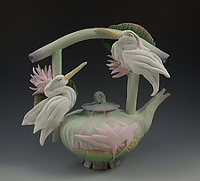 Two Heron Teapot by Nancy Y. Adams (Ceramic Teapot)