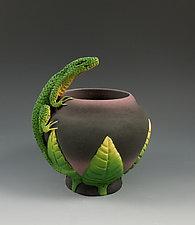Lizard Vessel by Nancy Y. Adams (Ceramic Vessel)