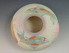 Two Koi Bowl by Nancy Y. Adams (Ceramic Bowl)