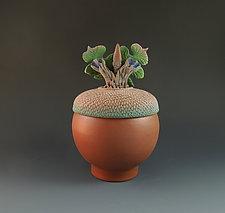 Fall Acorn Box by Nancy Y. Adams (Ceramic Box)