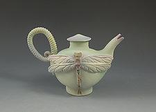 Mini Dragonfly Tea by Nancy Y. Adams (Ceramic Teapot)